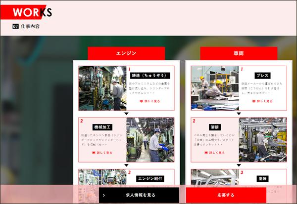 ダイハツ 滋賀(竜王)工場の仕事内容