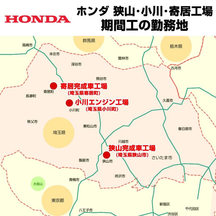 本田技研工業の生産拠点・勤務地
