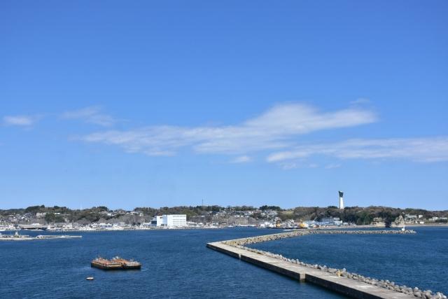 太平洋を望むいわき・小名浜風景