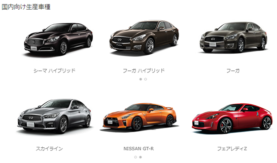 日産 栃木工場の生産車種