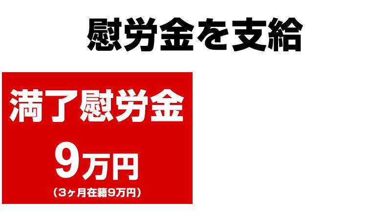 日産 横浜工場の満了慰労金+特別慰労金