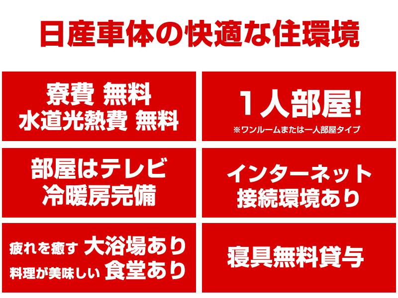 日産車体の本社湘南工場(平塚市)期間工の寮