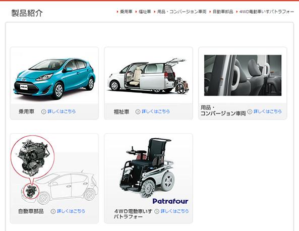 トヨタ自動車東日本の製品